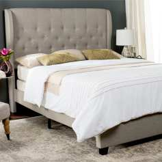 Safavieh-Blanchett-Light-Grey-Linen-Upholstered-Tufted-Wingback-Bed-Queen-1487596f-f8b4-401d-b66d-b7c596ae05e3