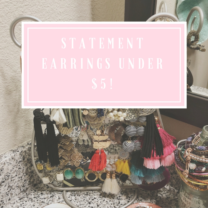 Statement Earrings For Under$5!