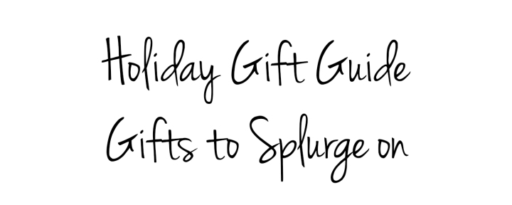 Holiday Gift Guide splurge title