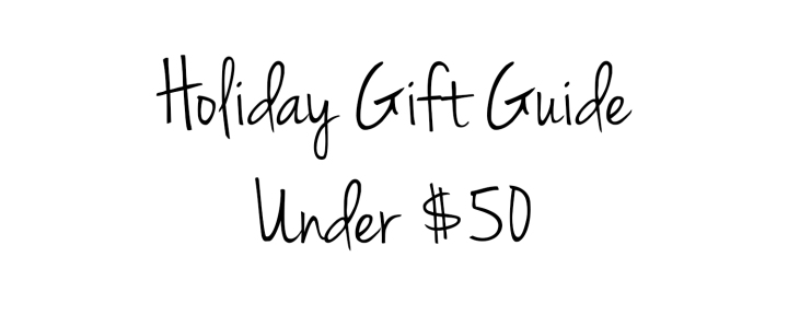 Holiday Gift Guide under 50 title